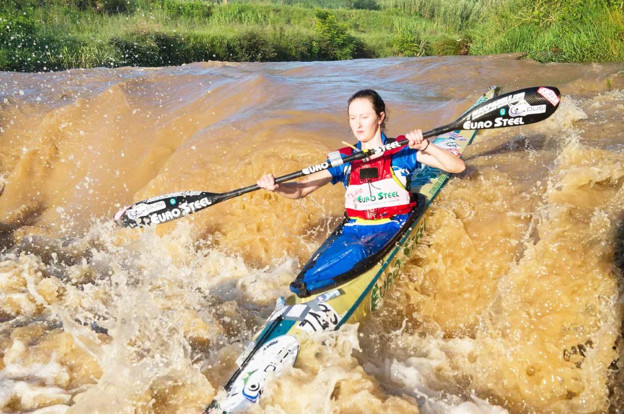 2018 Dusi Canoe Marathon women's K2 winner Cana Peek will team up with 2019 K1 winner Christie Mackenzie for the three-day race from Pietermaritzburg to Durban from 27-29 February. Photo: Anthony Grote