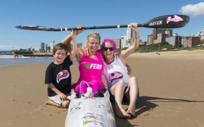 Bartho a Marathon Surfski Cancer Heroine