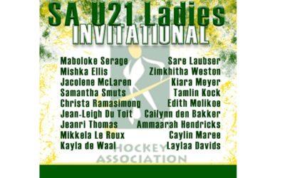 SA Invitational U21 Squad Announced