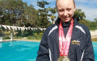 11Yr-Old Monica Botha Swims SA National Junior Qualifying Time