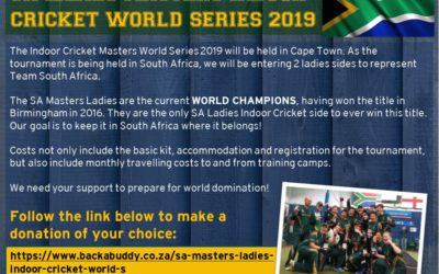 You can Support the SA Ladies Masters Indoor Cricket Team