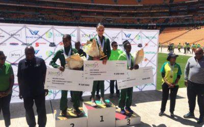 van Zyl Fights Back to Claim Third Straight Soweto Marathon Title