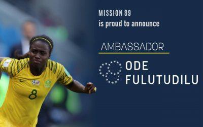 Ode Fulutudilu Partners with Mission 89 as Brand Ambassador