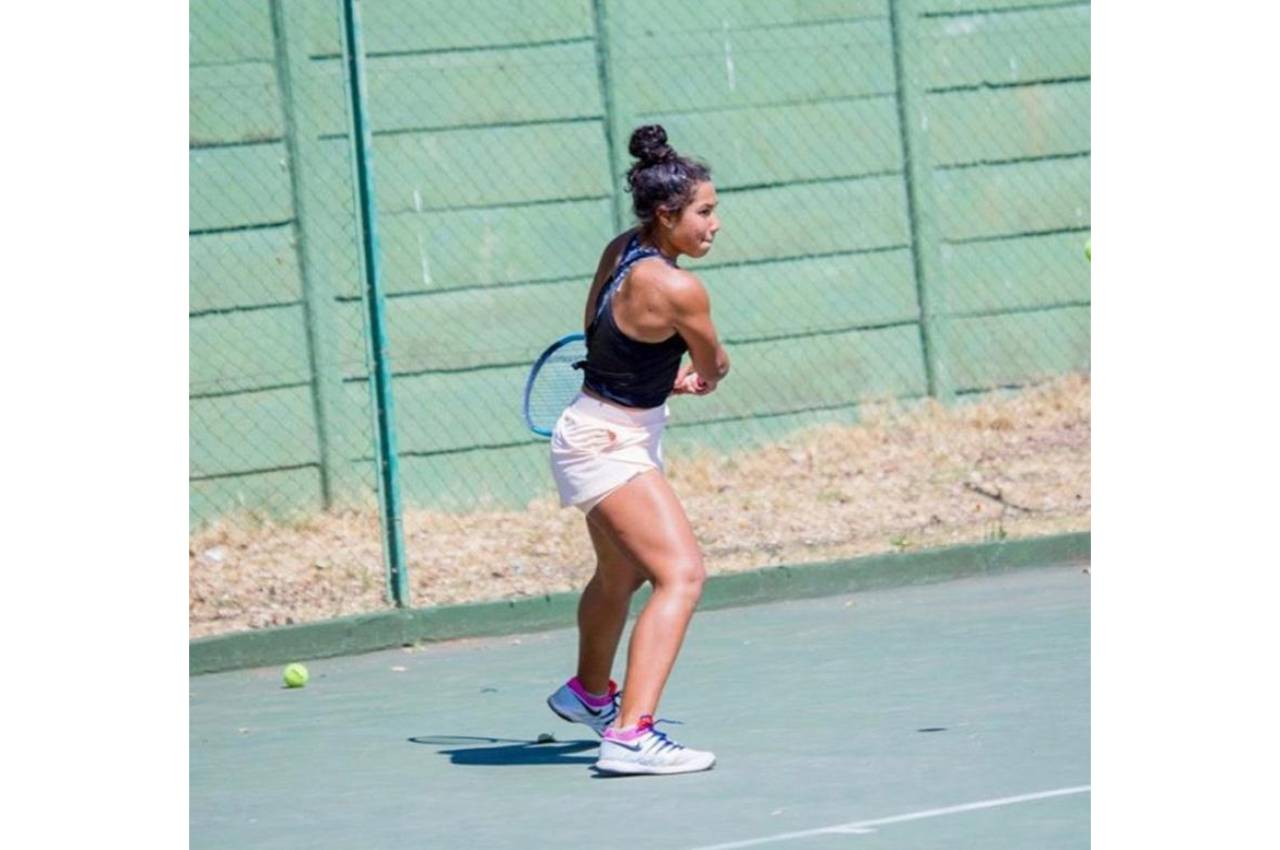 Rising tennis star, Kelly Arends is continuing with her family's tradition of playing the sport as she hopes to become a well-known international player one day. Photo: Supplied