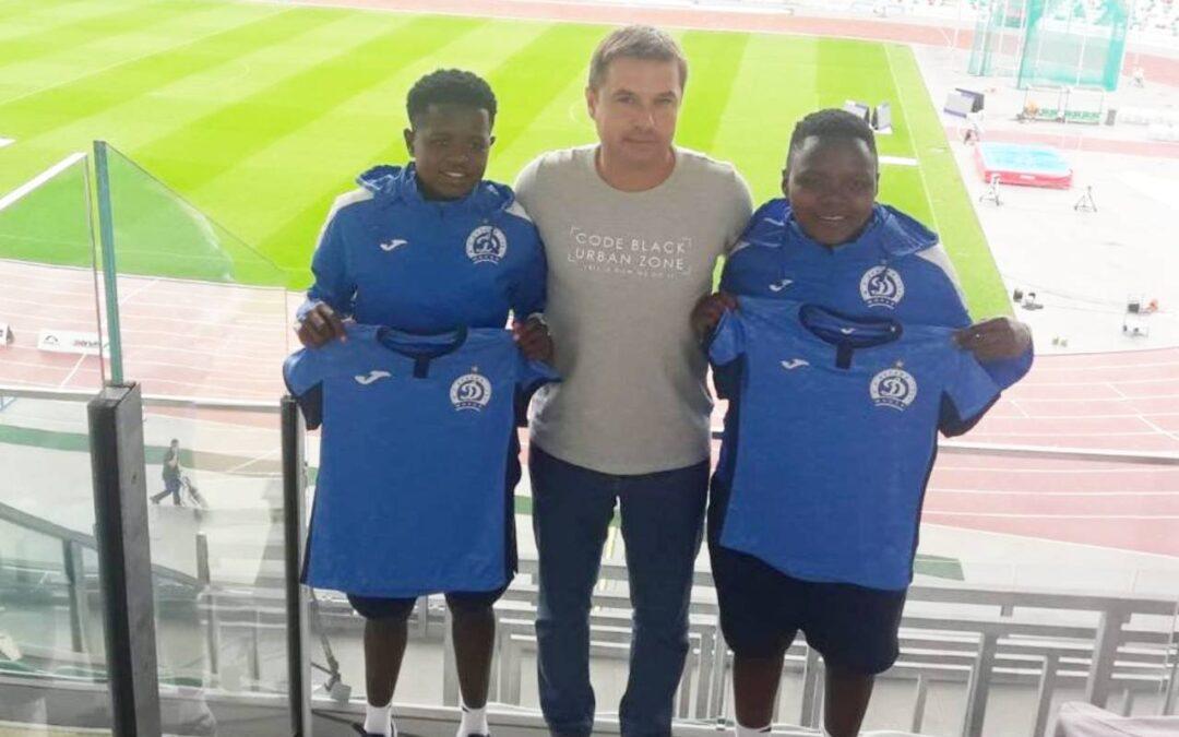 South African duo, Rhoda Mulaudzi and Lebogang Ramalepe, sign new deals with FC Dinamo Minsk in Belaru. Photo: Rhoda Mulaudzi