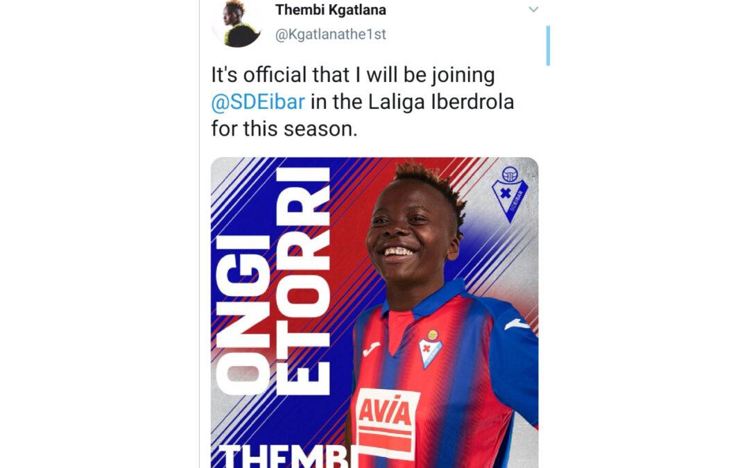 Banyana Banyana striker, Thembi Kgatlana, joins Spanish LaLiga Ibe4rdrola outfit, SD Eibar. Photo: Screenshot