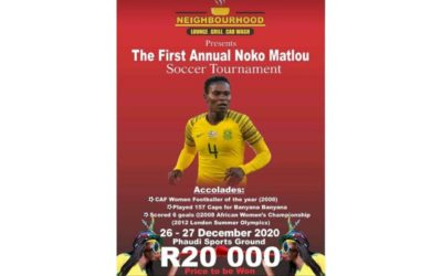 Noko Matlou to Host First Annual Soccer Tournament