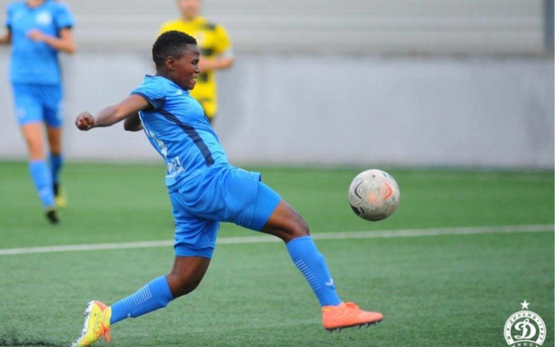 South African international footballer, Rhoda Mulaudzi, opened her scoring account for Dinamo Minsk in the Belarus Premier League. Photo: FC Dinamo Minsk (Twitter)