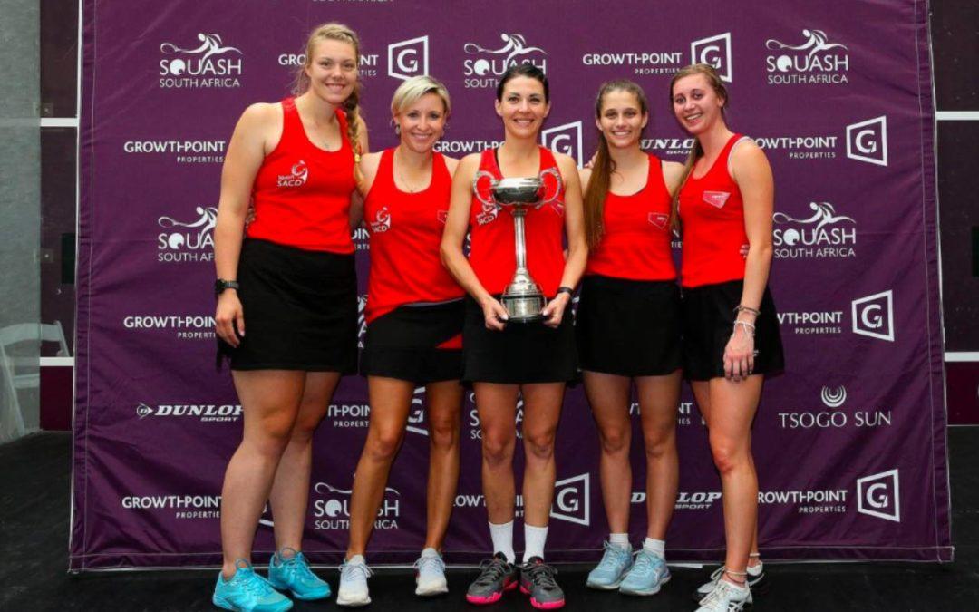 SACD retain their Growthpoint Interprovincial Squash title at Brooklyn Mall in Pretoria on Friday, 23 October 2020. Photo: Squash SA