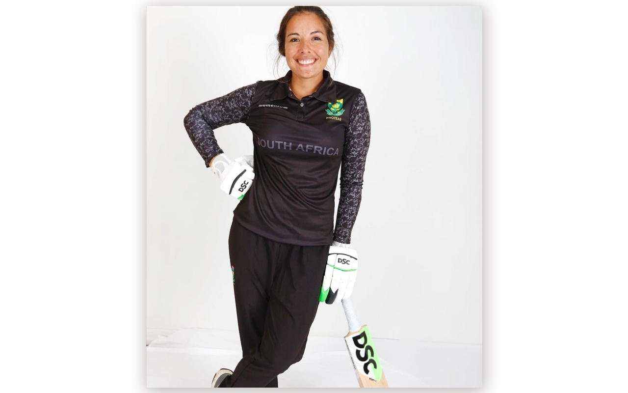 Momentum Proteas captain, Suné Luus, will lead the South Africans in black in support of the fight against gender-based violence in the team's second ODI match against Pakistan Women at Hollywoodbets Kingsmead Stadium on Saturday, 23 January 2021. Photo: Suné Luus (Instagram)