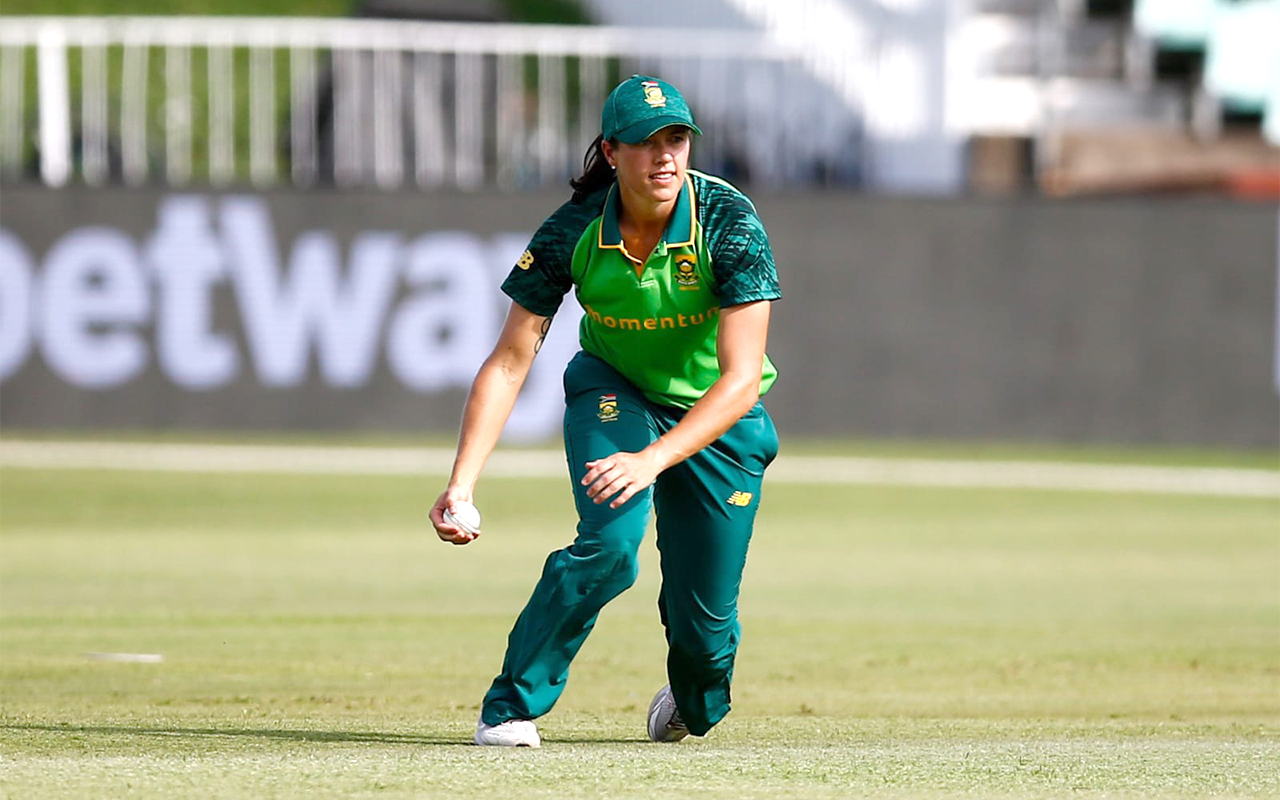 Momentum Proteas' Tazmin Brits pictured in the first T20i against Pakistan. Brits scored a valuable half-century to steer South Africa to victory, and won the Player of the Match award at Hollywoodbets Kingsmead Stadium in Durban on Friday, 29 January 2021. Photo: CSA