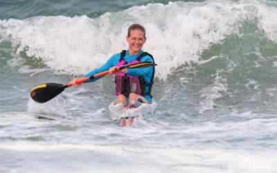 Michelle Burn Takes Pole Position at Marine Surfski Race 1