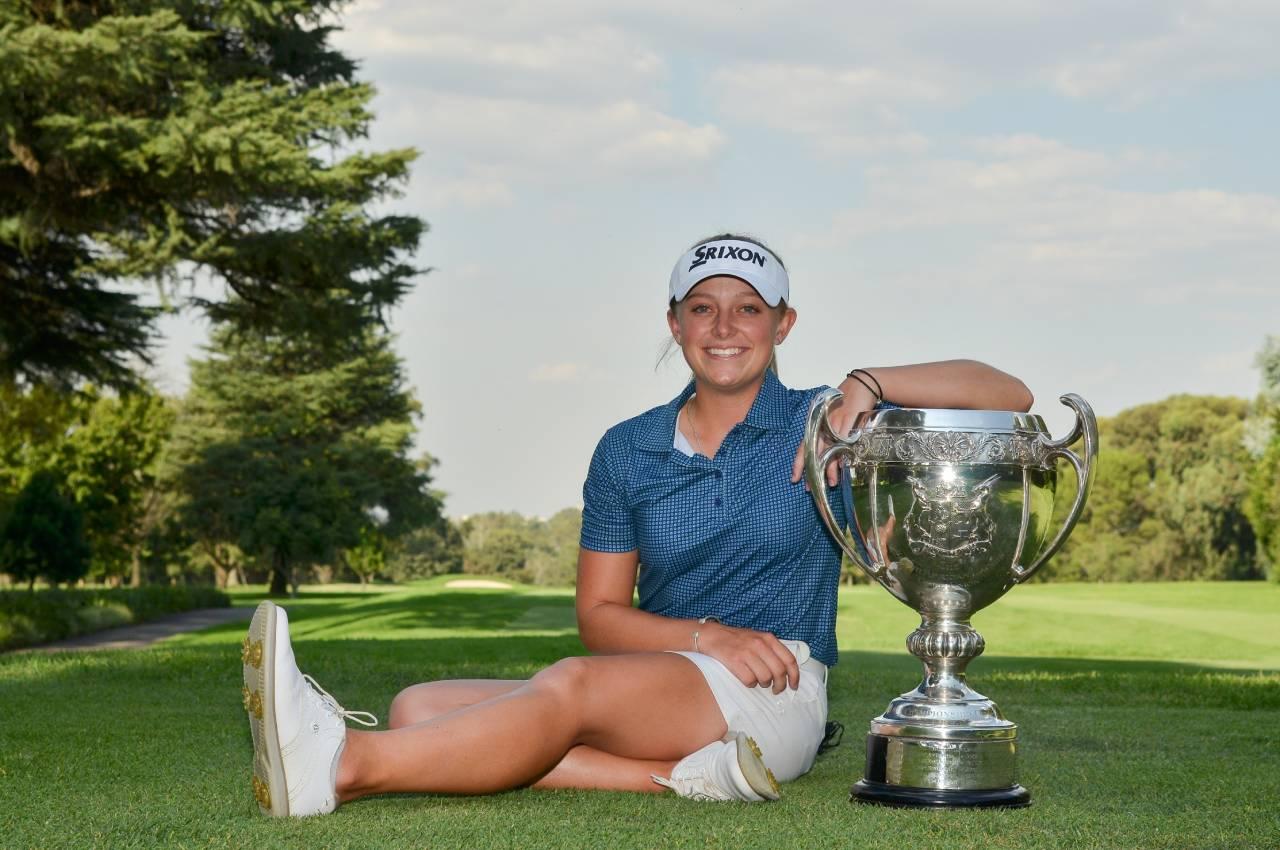 Defending champion Caitlyn Macnab won 11 & 9 successfully defended her SA Women's Amateur title at Royal Johannesburg & Kensington Golf Club. Photo: Ernest Blignault