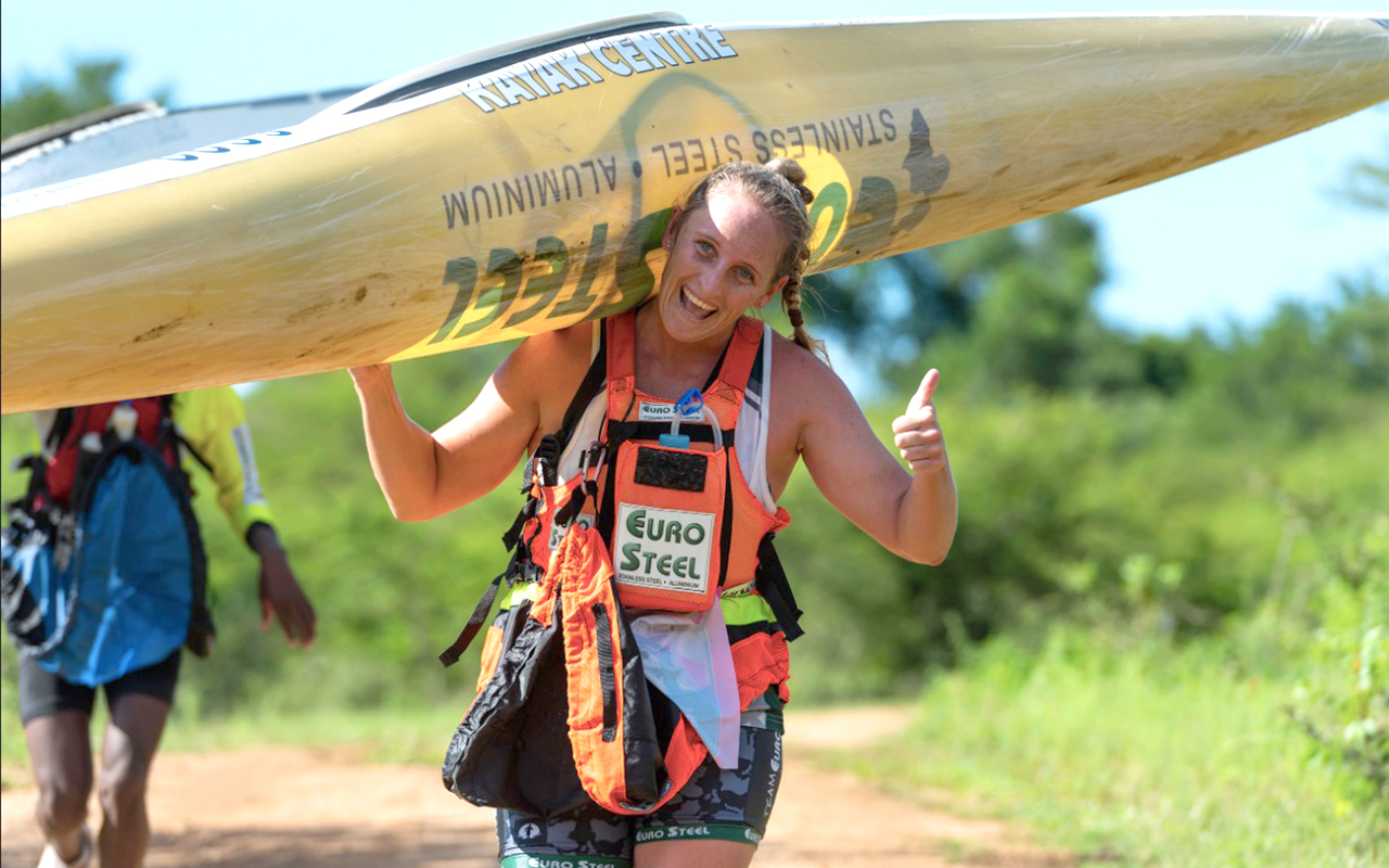 """Euro Steel's Jenna Ward hopes to fully recover from an ankle injury suffered during a key MyLife Dusi qualifier race last month. """"I am feeling really positive now and can't wait for the Dusi. I am not afraid of going into it as an underdog!"""" she said. Photo: Anthony Grote/Gameplan Media"""