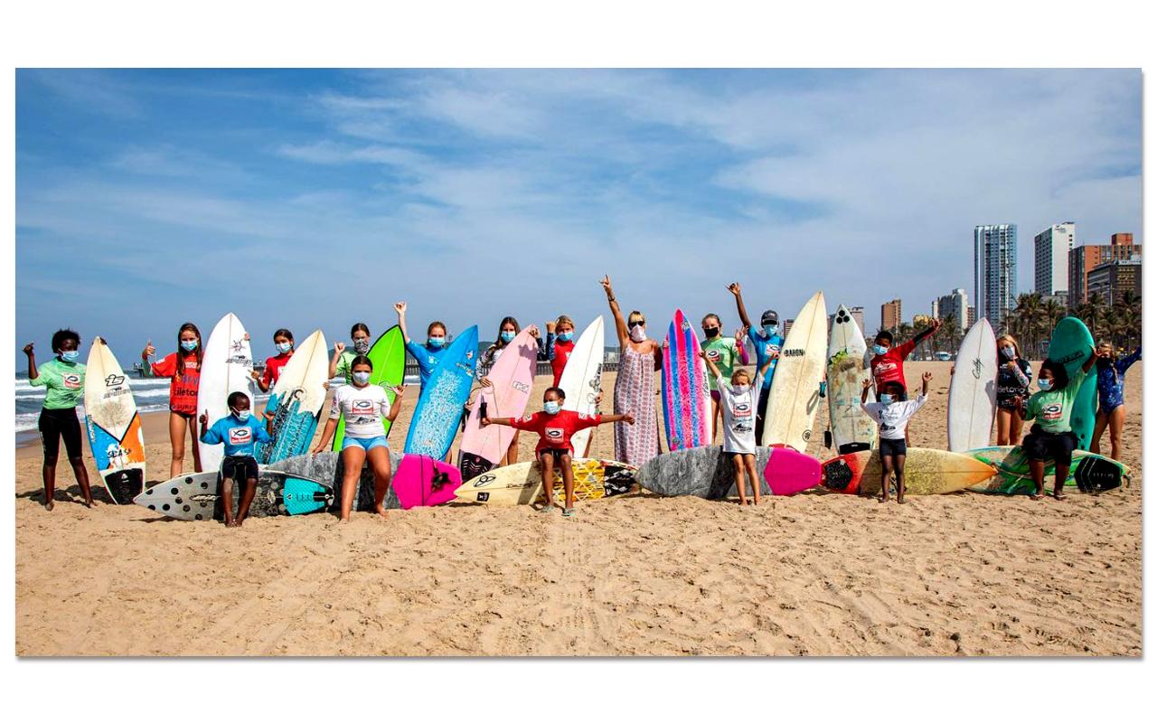 The eThekwini Surfriders Association event where 33 girls entered the 2021 season's opening at Durban's uShaka Beach. Photo: pierretostee (ESA Facebook page)