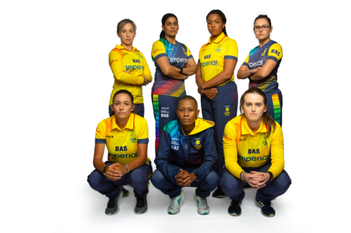 The Imperial Central Gauteng Lioness squad. The team is currently based in a Bio-Secure Environment ahead of their CSA Provincial matches scheduled to start on Tuesday, 16 March 2021, in Cape Town. Photo: CGL (Twitter)