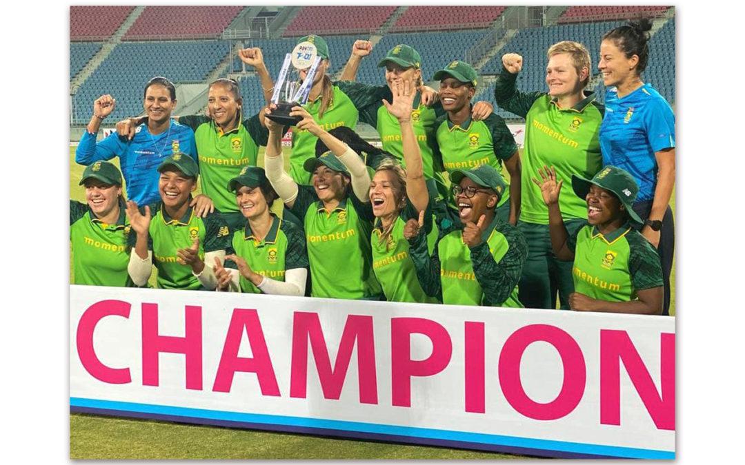 Proteas Women Celebrate Best Ever Tour to India