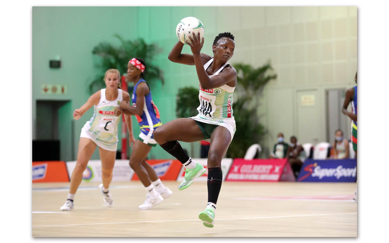 SPAR Proteas captain Bongi Msomi in action against Namibia on Saturday, 28 March 2021. Photo: Supplied