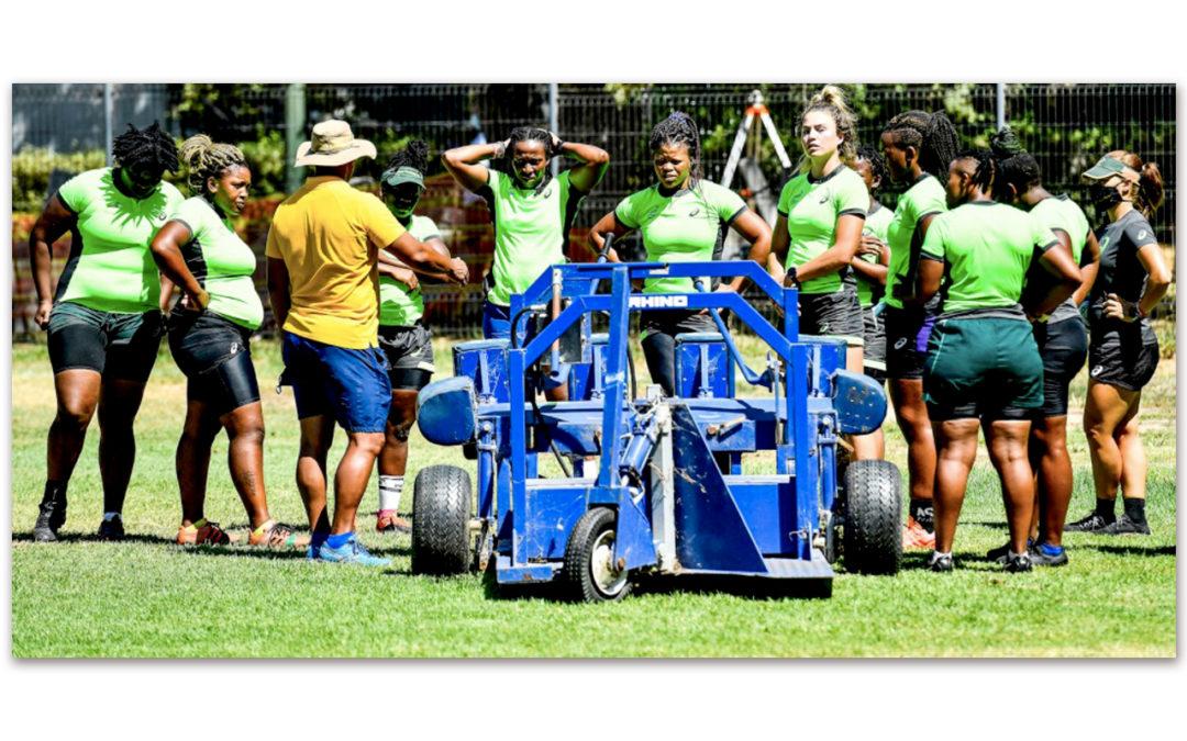 Members of the Springbok Women's squad pictured in camp in Stellenbosch. Photo: Springbok Women (Twitter)