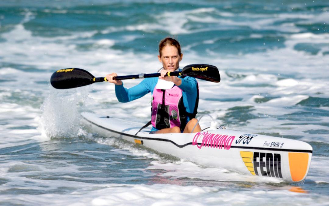 Michelle Burn Bags Fenn SA Surfski Champs Title