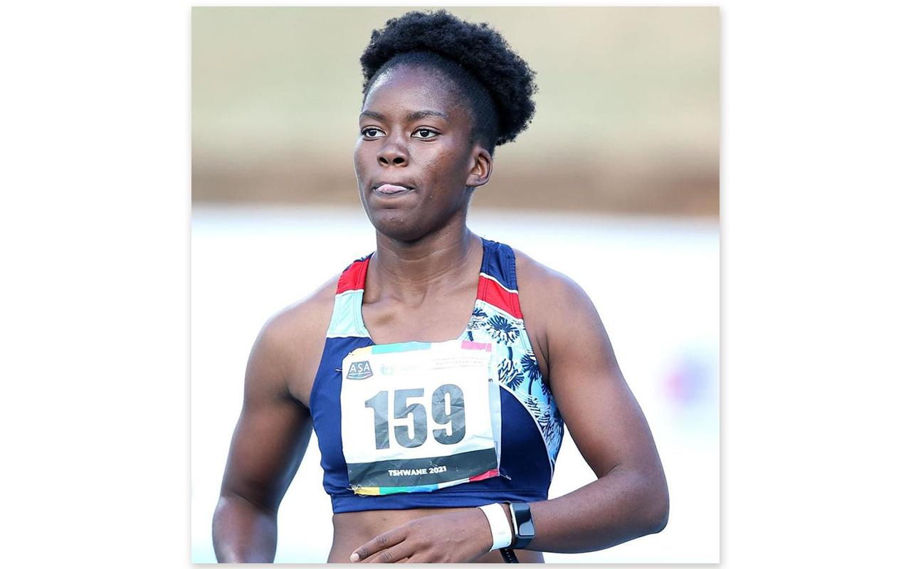 New SA women's 100m champion, Reabetswe Moloi. Reg Caldecott/Tuks Sport