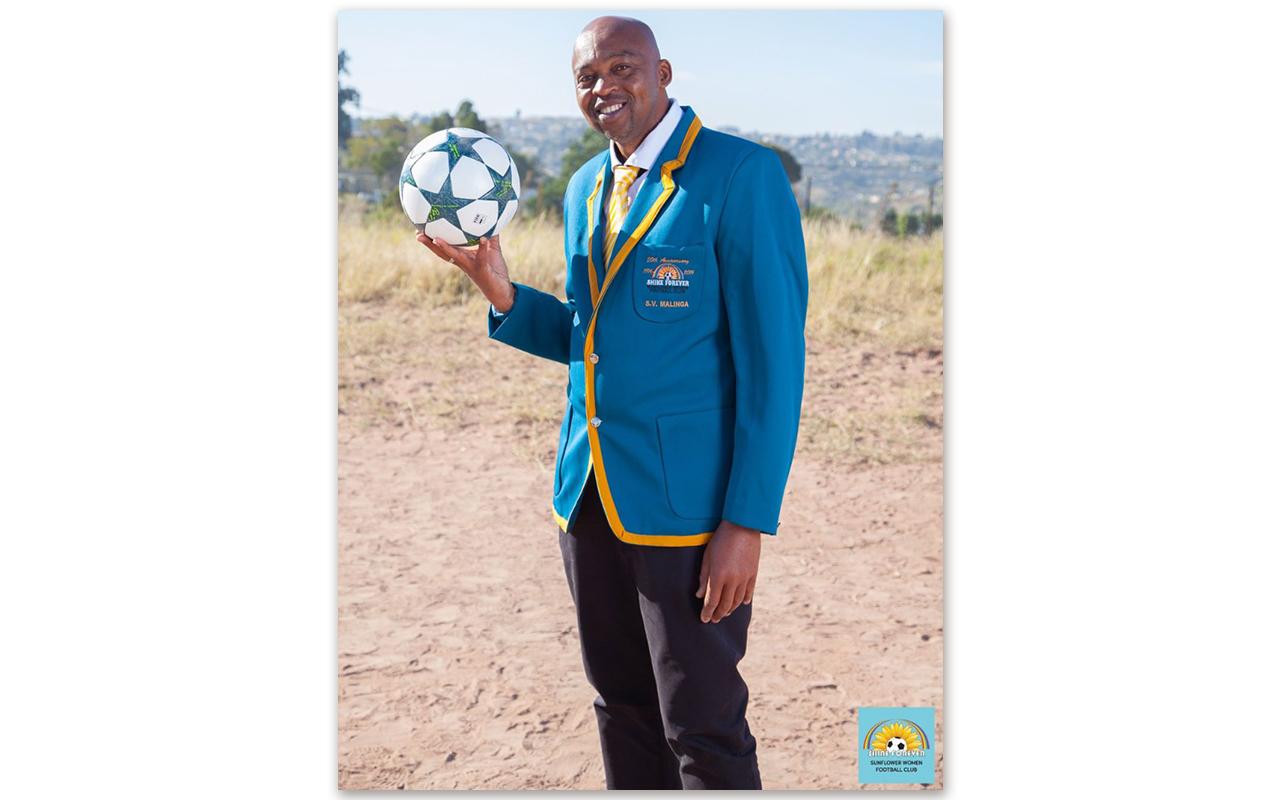 Siyabonga Malinga – Sunflower FC Founder and Coach. Photo: Supplied
