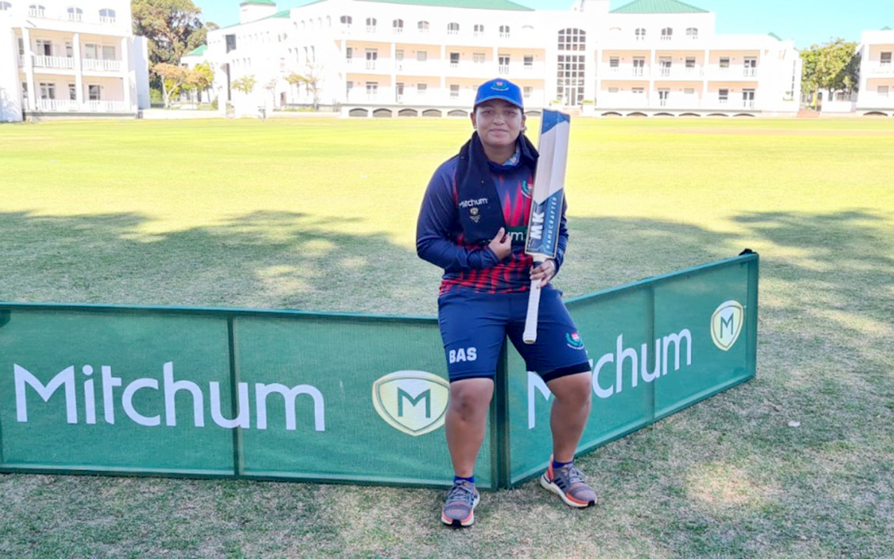 Promising cricketer Saarah Smith is motivated to build on her recent outstanding CSA Women's Provincial 1-Day League performances as she aims to make a return to the Momentum Proteas squad. Photo: Supplied