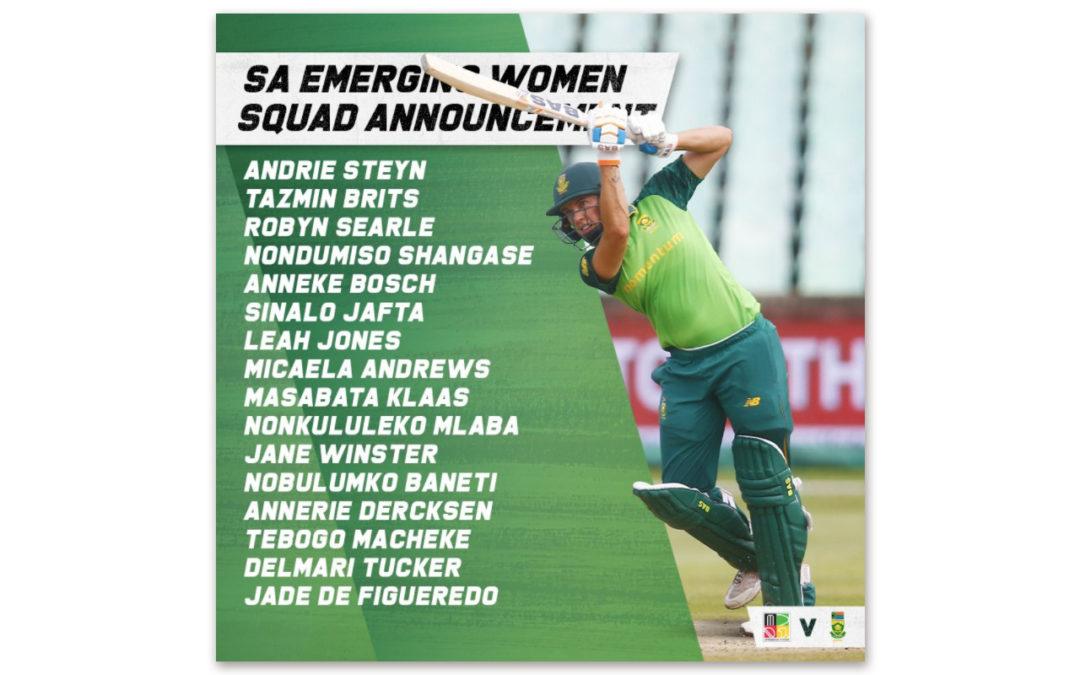 SA Emerging Squad Ready to Battle Zimbabwe on Tour