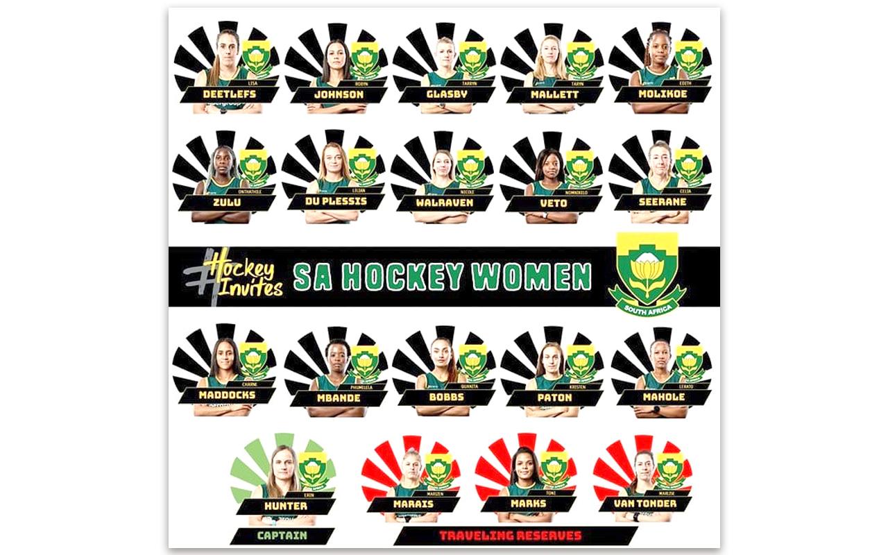 SA Women's Hockey Squad. Photo: Supplied