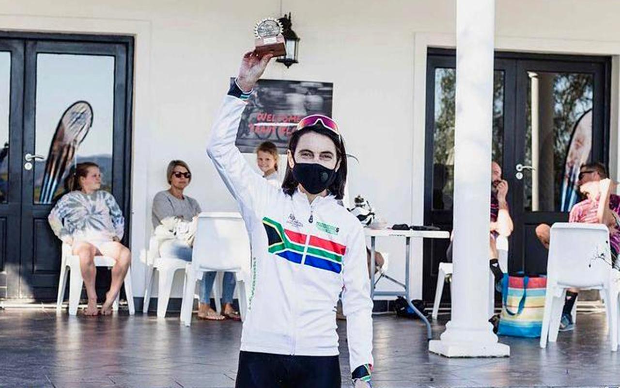 South Africa's mountain biker, Yolande de Villiers, claimed top honours at the Trans Elands MTB Marathon on Saturday, 5 June 2021. Photo: Yolande de Villiers (Instagram)