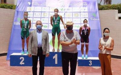 Simone Ackermann and Gillian Sanders Earn Top Triathlon Honours in Egypt