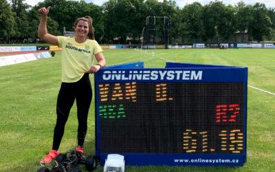 Jo-Ané van Dyk Breaks 60m Barrier in Czech Republic