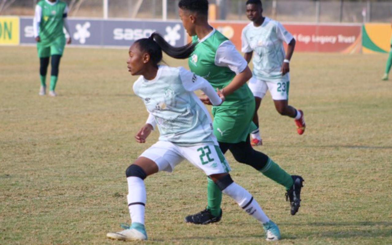 Bloemfontein Celtic Ladies pictured in action against Golden Ladies in Mafikeng on Sunday, 20 June 2021. Photo: SAFA