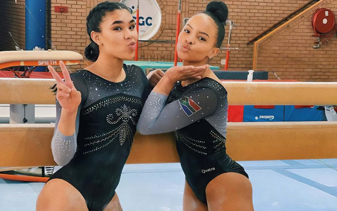 Gymnastics duo, Caitlin Rooskrantz and Naveen Daries, who are the first ever South African Women's Artistic Gymnasts to have qualified for the Games, are looking forward to making a positive impact at the event. Photo: Caitlin Rooskrantz (Instagram)