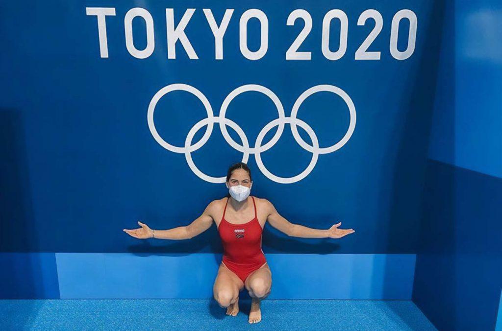 Swimmer Rebecca Meder enjoying the Olympic pool during a training session. Photo: Rebecca Meder (Instagram)