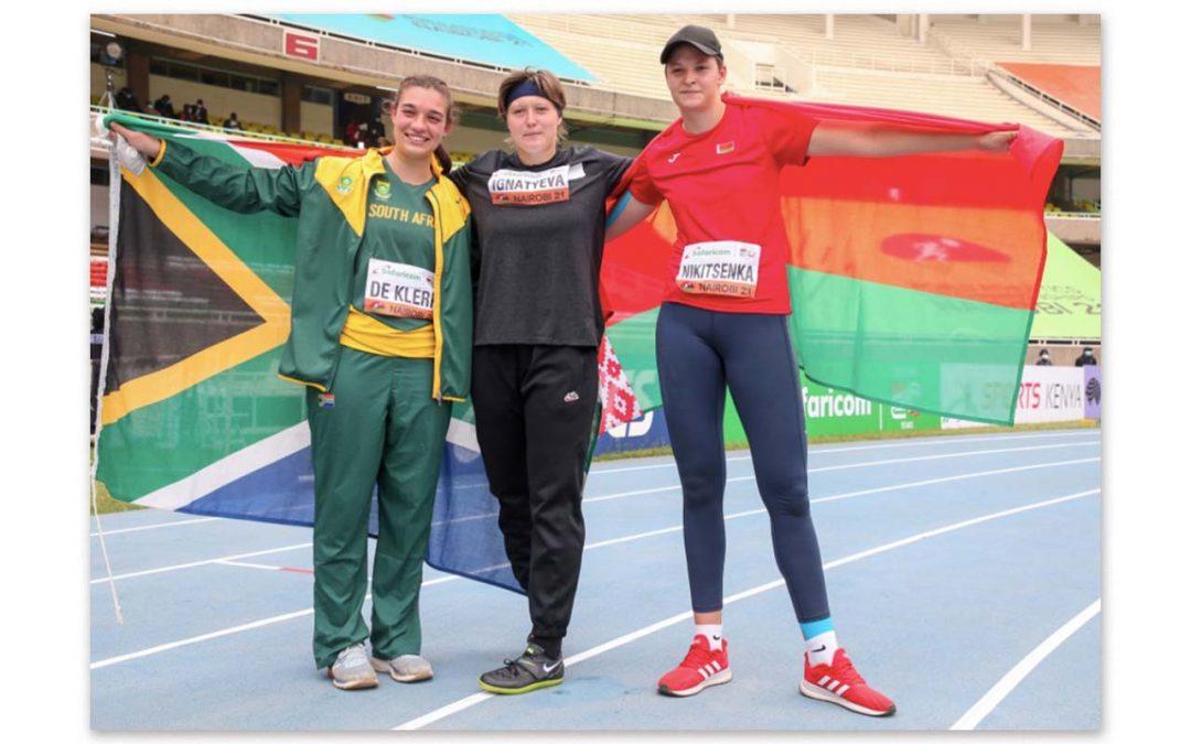 Miné de Klerk Earns Record Breaking Performance at U20 World Champs
