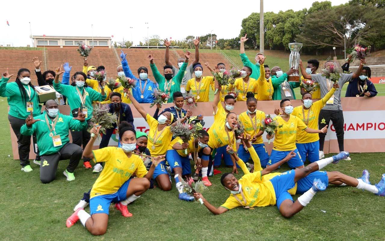 South Africa's Mamelodi Sundowns Ladies book CAF Women's Champions League spot following 3-0 win over Black Rhinos of Zimbabwe in Durban on Saturday, Photo: COSAFA Media