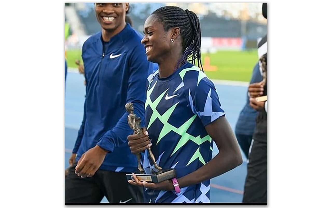 200m Namibian sprint star Christine Mboma has won gold at the Hanžeković Memorial, an IAAF World Challenge Meetings event at the Sportski Park Mladost athletic stadium in Zagreb, Croatia. Photo: Christine Mboma (Instagram)