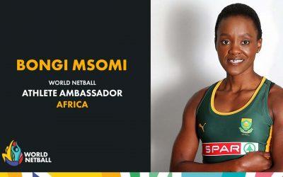 World Netball Announces Bongi Msomi as African Athlete Ambassador