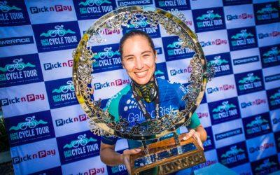 Kim Le Court De Billot Amped with CT Cycle Tour Victory